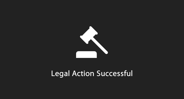 Legal Action Successful