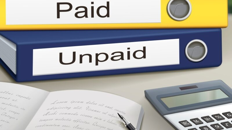 The meaning of an unpaid invoice